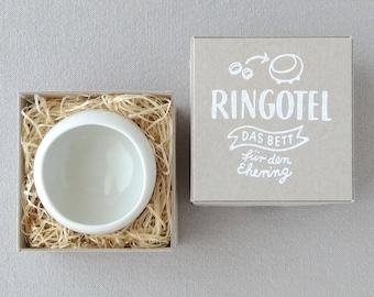 Ringing bowl RINGOTEL white, customizable