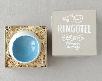 Wedding bowl RINGOTEL turquoise, customizable