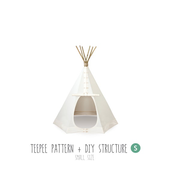 Teepee Sewing Pattern of the Tent and Structure Tutorial | Etsy