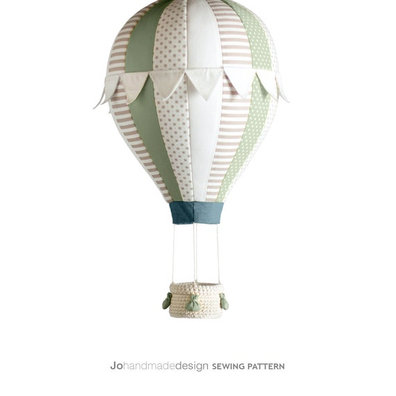 B2 DIY Tutorial Heißluftballon mit Korb Ballast und Fahnen | Etsy