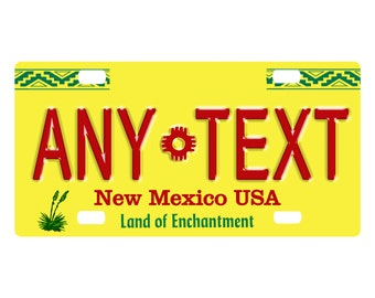 BRGiftShop Personalize Your Own Mixed USA and Mexico Flag Car Vehicle 6x12 License Plate Auto Tag