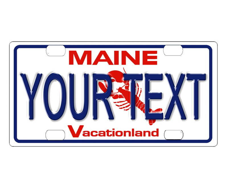 CUSTOM PERSONALIZED ALUMINUM BICYCLE MINI STATE LICENSE PLATE-MAINE 1987