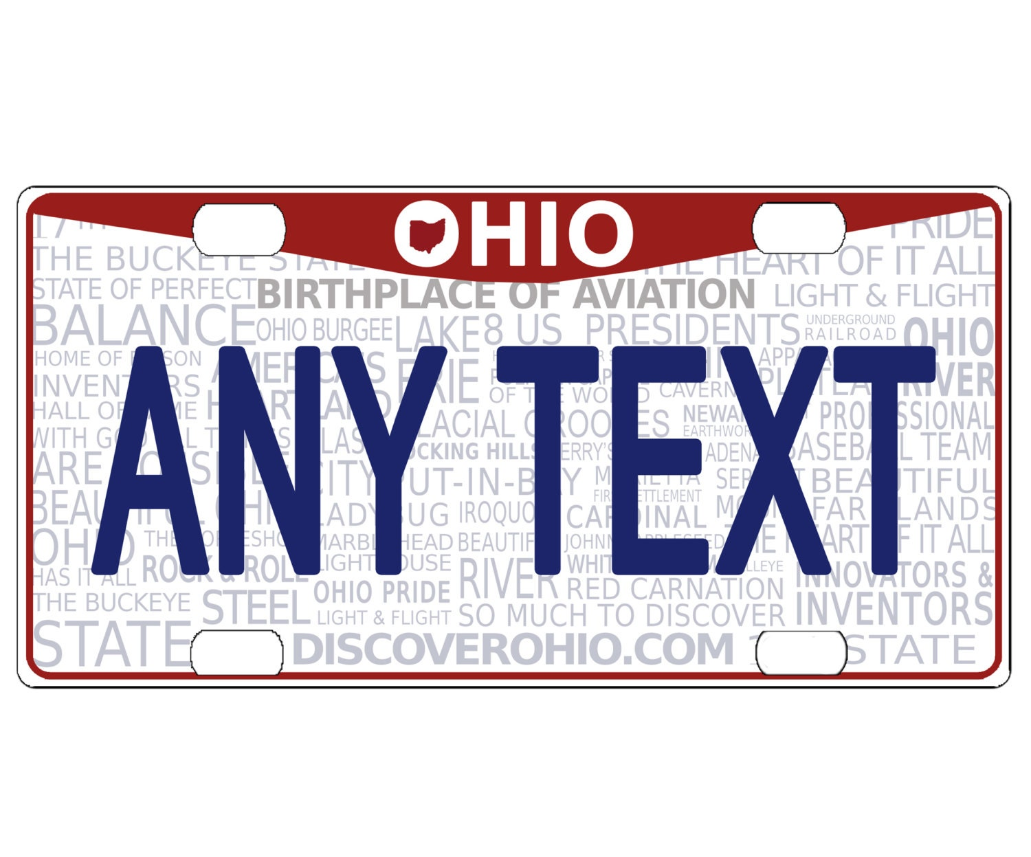 CUSTOM PERSONALIZED ALUMINUM BICYCLE MINI STATE LICENSE PLATE-OHIO 1997