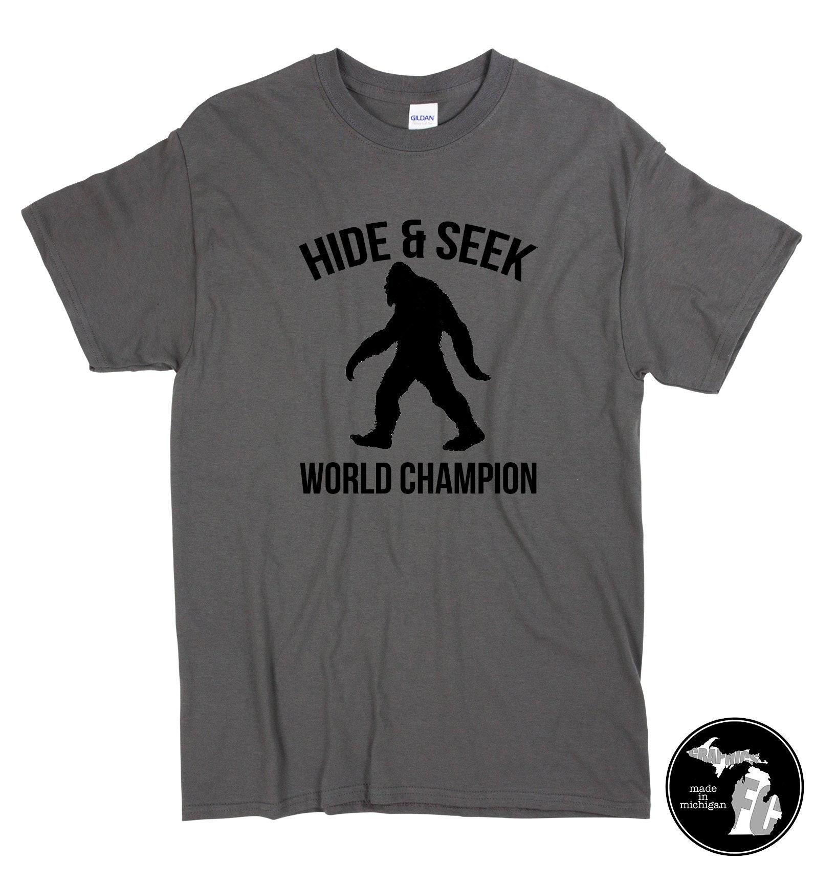 50751cd0 Hide & Seek World Champion Shirt and More Sasquatch Big   Etsy