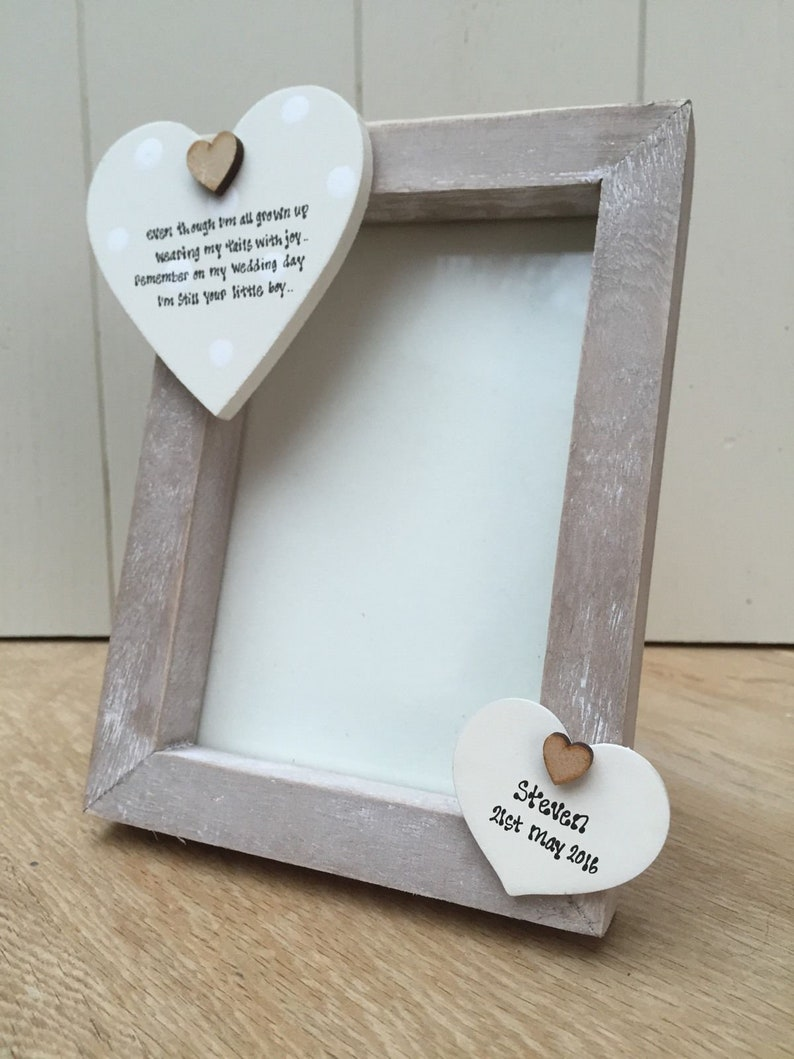 Shabby personalised Chic Photo Frame In Memory Of Loved One Mum Dad Nana Grandad