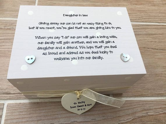 Shabby Personalised Chic Gift Box For Daughter Who Is The Bride On Wedding Day..