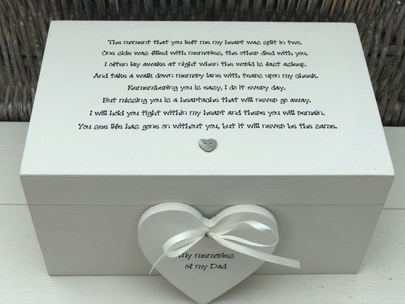 Shabby Personalised Chic Box Frame  Daddy Dad Special Gift From His Daughter Son