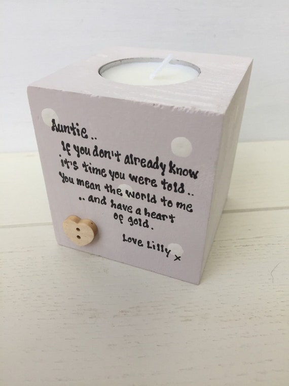 Personalised Candle For Aunty ~ Aunt ~ Auntie ~ any name you want