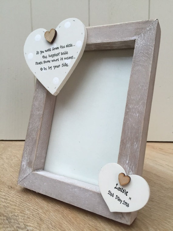 Shabby personalised Gift Chic Wedding Present Gift For The Bride From Bridesmaid