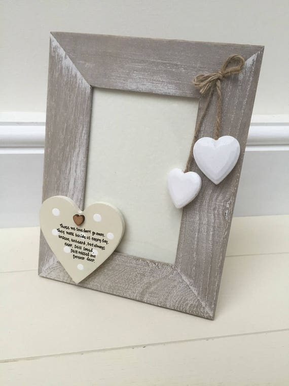 Shabby personalised Chic Photo Frame In Memory of a loved | Etsy