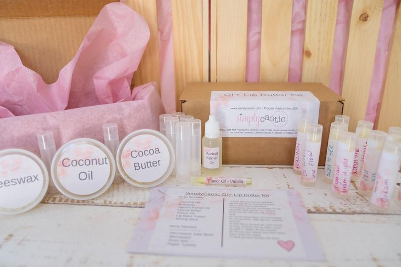DIY Lip Balm Kit Teen Gift Spa Day Kit Party Favor Craft image 0