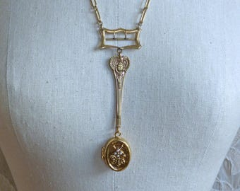 Golden Scarab Locket and Buckle