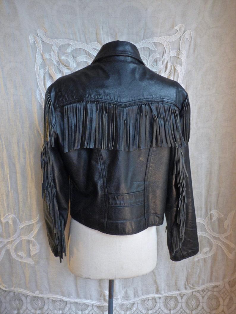 Western Fringe Leather Biker Jacket