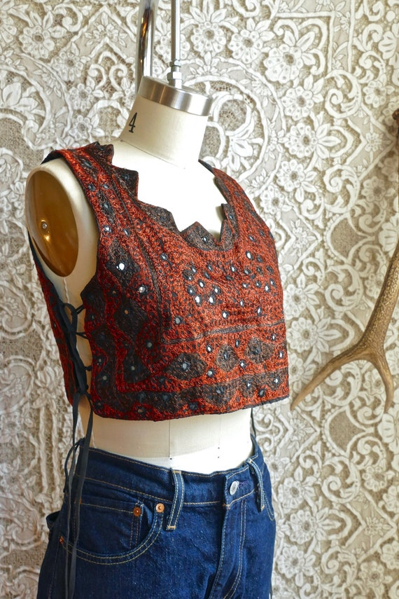 Embroidered Indian Mirrored Top