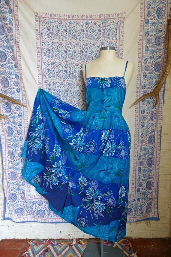 Phool Indian Gauze Cotton Tiered Tie-Back Sun Dres