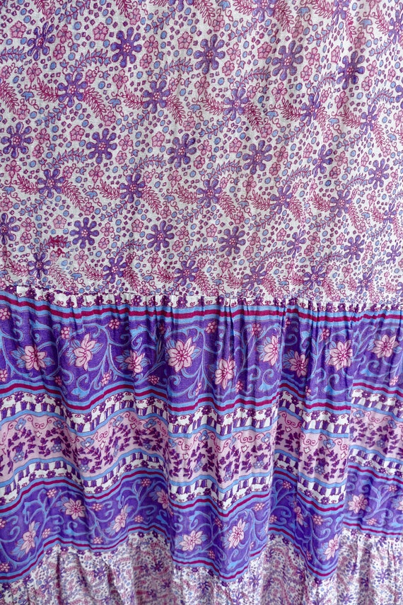 Lavender Indian Gauze Cotton Tent Dress - image 6