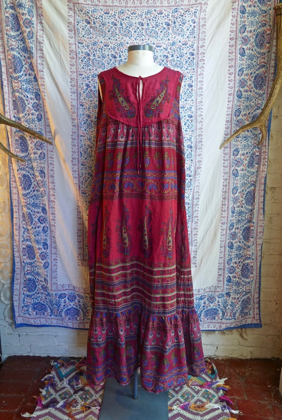 Indian Gauze Cotton Maxi Dress