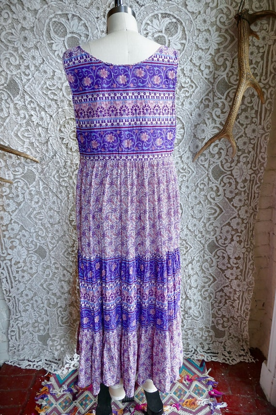 Lavender Indian Gauze Cotton Tent Dress - image 4