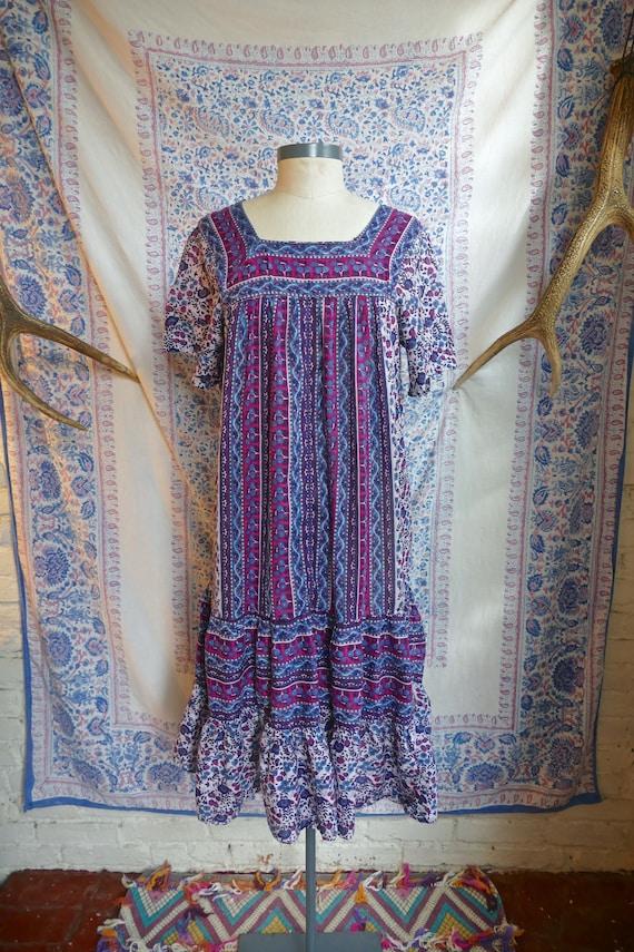 Ruffled Indian Gauze Cotton Tent Dress - image 2
