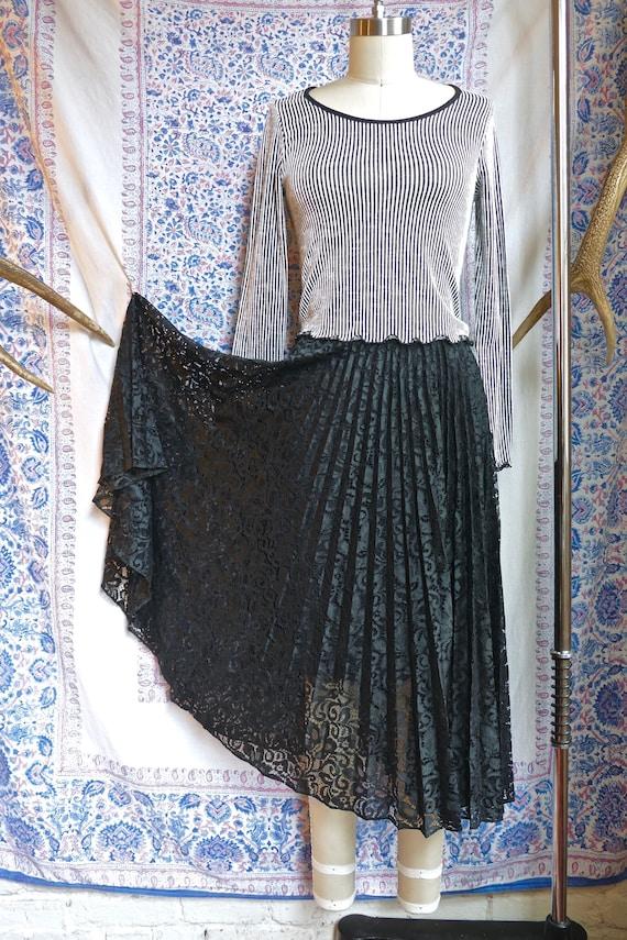 Sheer Black Lace Skirt