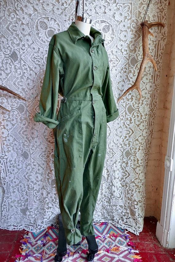 Vintage Army Surplus Jumpsuit