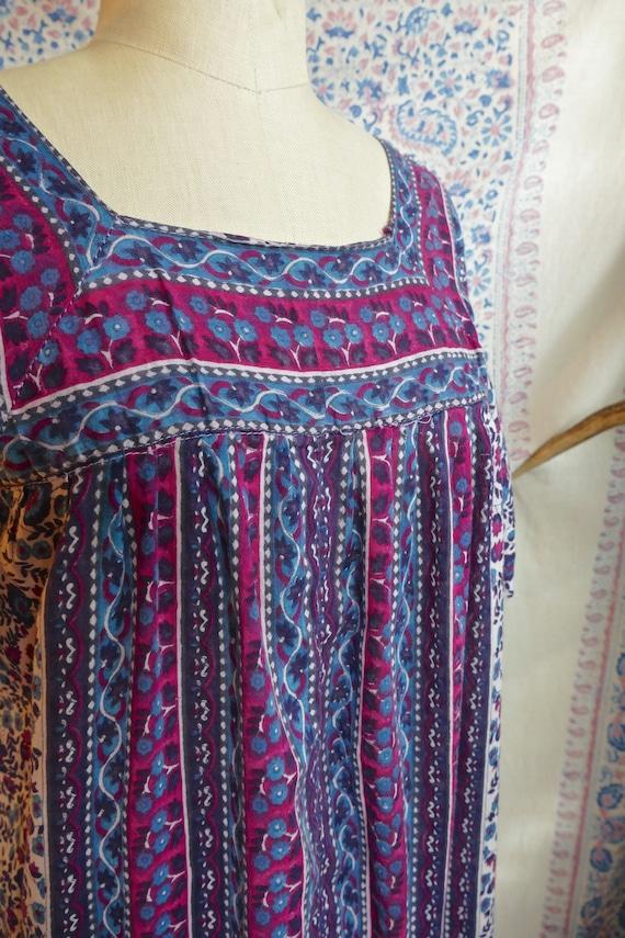 Ruffled Indian Gauze Cotton Tent Dress - image 4