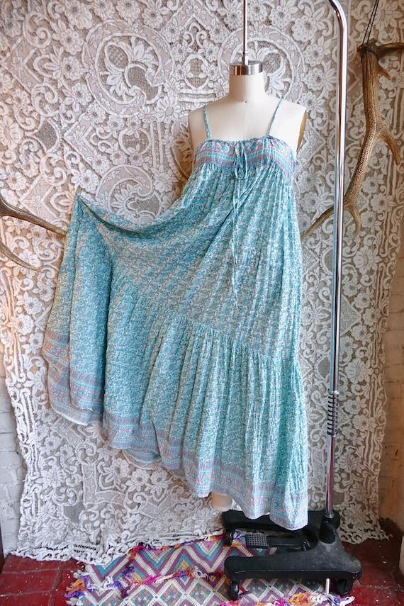 Indian Gauze Cotton Sundress - image 1