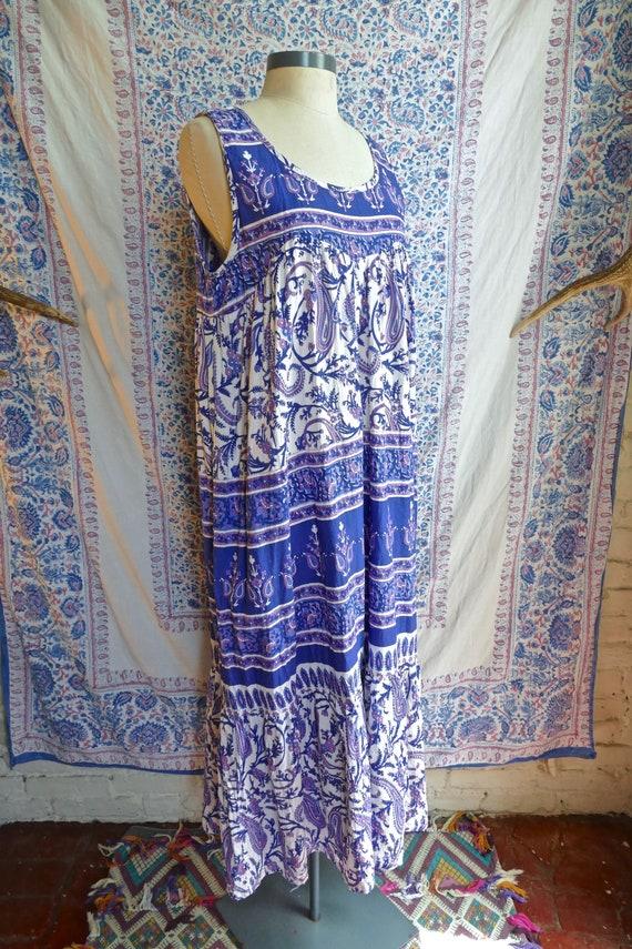 Indian Cotton Tiered Sun Dress