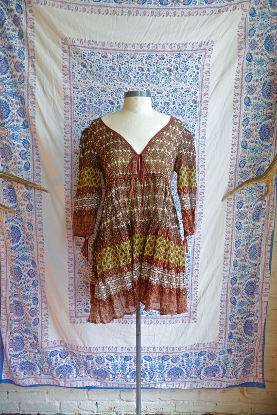 Indian Gauze Cotton and Lurex Tunic