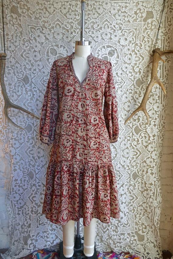 Block Print Indian Cotton Smock Dress