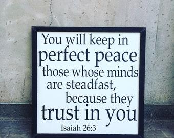 Isaiah 26:3 sign