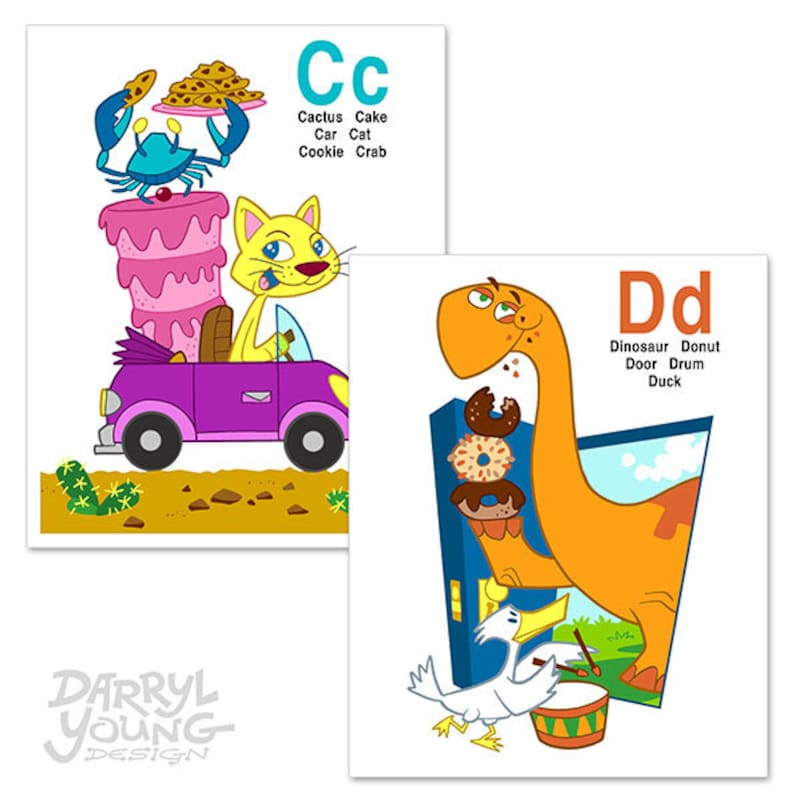 Custom Alphabet Flash Cards Book, Digital Printable - ABC for You and Me -  8