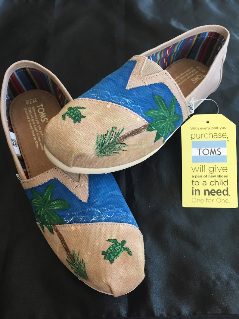 598a11915 Beach ocean Themed Hand painted shoes