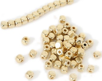 Ship from California USA Wholesale Lot 500 pcs of Rhodium Plated Filigree Round Beads Spacer 4mm