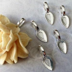 50pc Antiqued Silver Tear Drop Glue on Bail 21x8mm Pendants Jewelry Making Su.