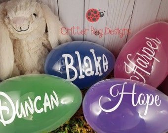 Personalized Jumbo Easter Eggs For Kids Easter Carrot Basket Stuffer Eggs Easter Egg Hunt Ornaments Easter Eggs Easter Basket Filler