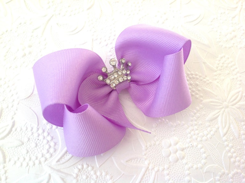 Alert Hair Bow A Large Boutique Style Princess With Felt Crown Center Hair Bow Usa Baby & Toddler Clothing