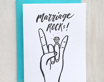 Marriage Rocks Letterpress Card