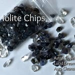 Iolite Crystals Chips, Grid Stone Crystals, Pillow Sachet Stones, Lucid Dreaming Crystals, Astral Travel Stones. OBE Crystals, Journey