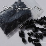 One Ounce BLACK TOURMALINE Stone Chips for Clearing Negativity, Aura Cleansing and Grid Work