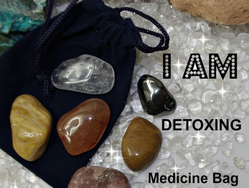Detoxing Crystal Medicine Bag I AM Detoxing and Purifying from image 0