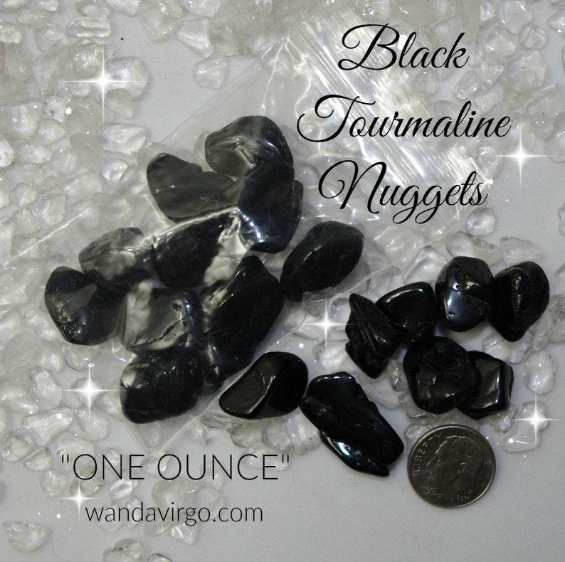 BLACK TOURMALINE Crystal Nuggets Cleansing Negativity image 0