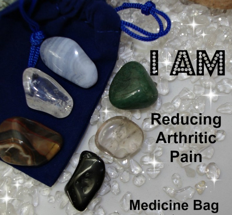 Reduce Pain Crystals Medicine Bags I AM Reducing Pain image 0