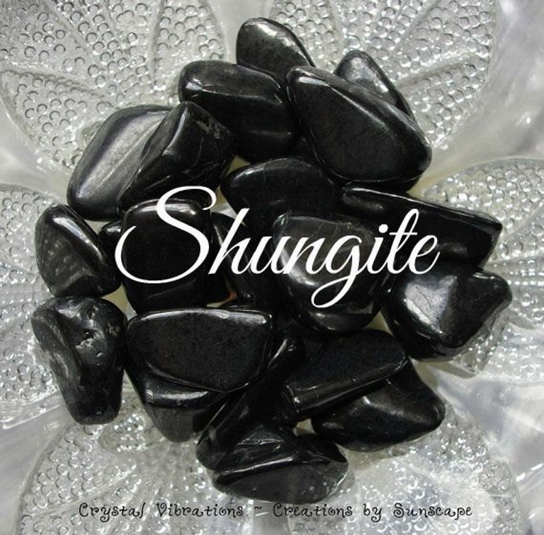 Mystical SHUNGITE Stone Cleansing Negativity Aura Crystals image 0