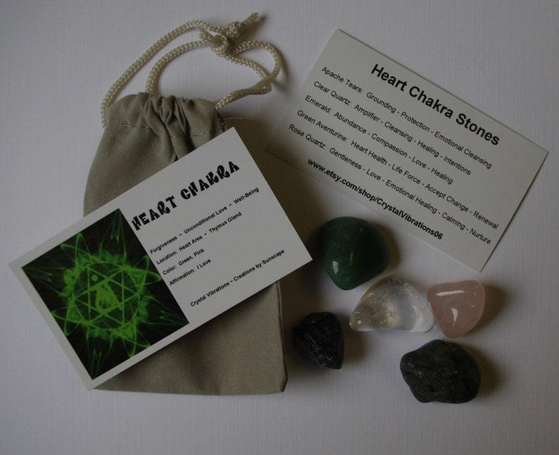 HEART CHAKRA Medicine Bag for Emotional Healing image 0