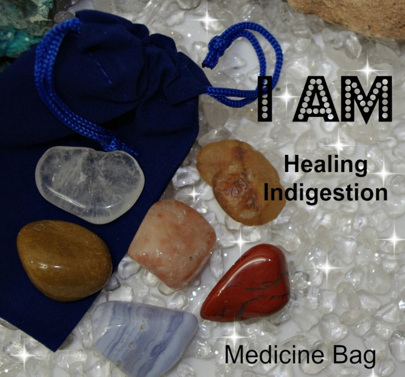 Indigestion Crystals I AM Medicine Bag  I AM Healing image 0