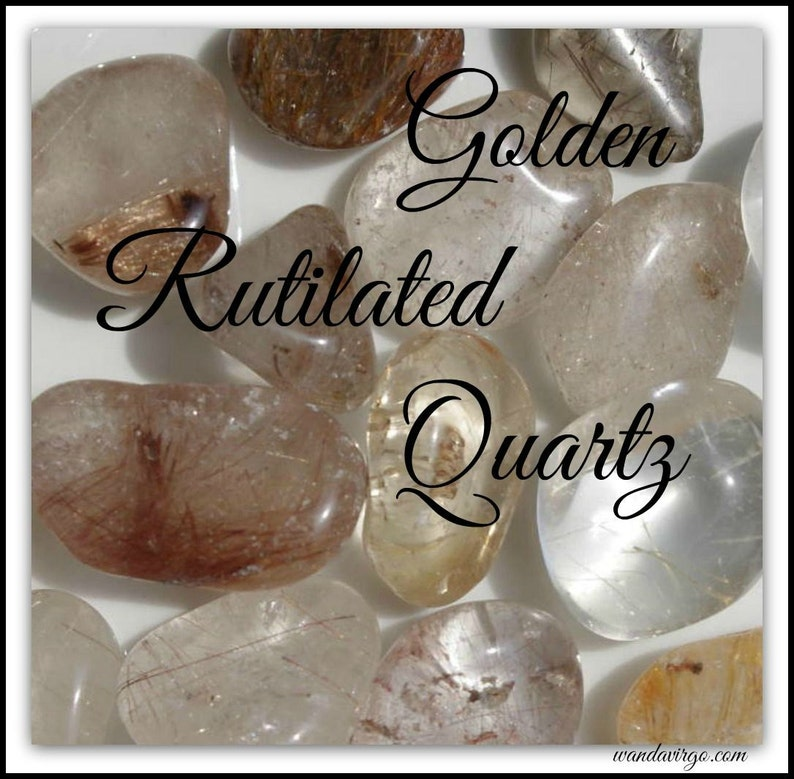 GOLDEN RUTILATED QUARTZ Tumbled Stones for Grounding image 0