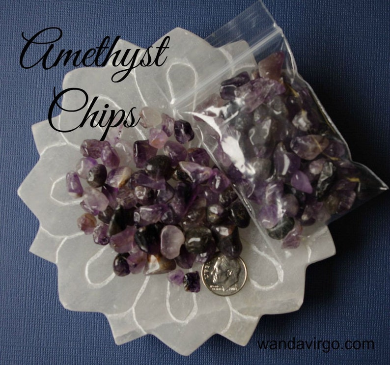 AMETHYST Crystals Chips are perfect for grids and pillow image 0