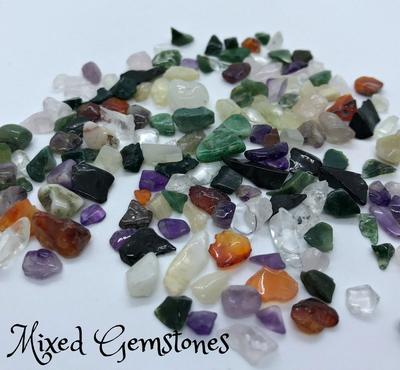 Mixed GEMSTONE CHIPS  Energy and Grid Work Crystal Chips image 0