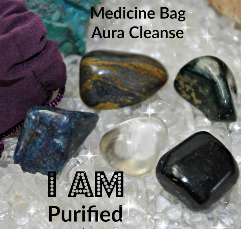 Cleansing Crystal Medicine Bag I AM Purified and cleansed of image 0